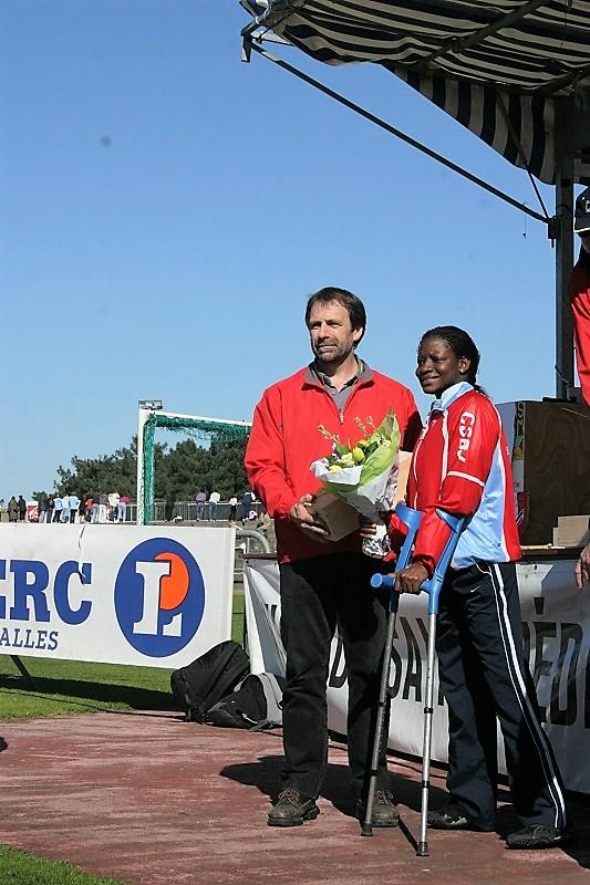 Manda SOW, première féminine de la course fauteuil 2007